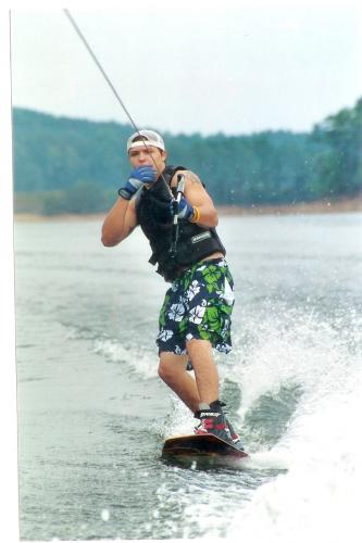 Kurt Loved Wake Boarding!!